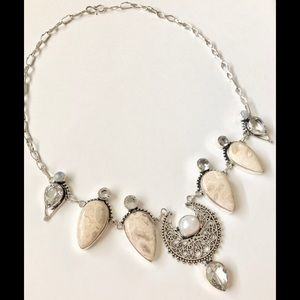 Jewelry - GORGEOUS NATURAL FOSSIL CORAL JASPER NECKLACE🛍